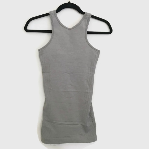 075c2a287d lululemon athletica Tops - lululemon Gray Compression High Neck Tank Top